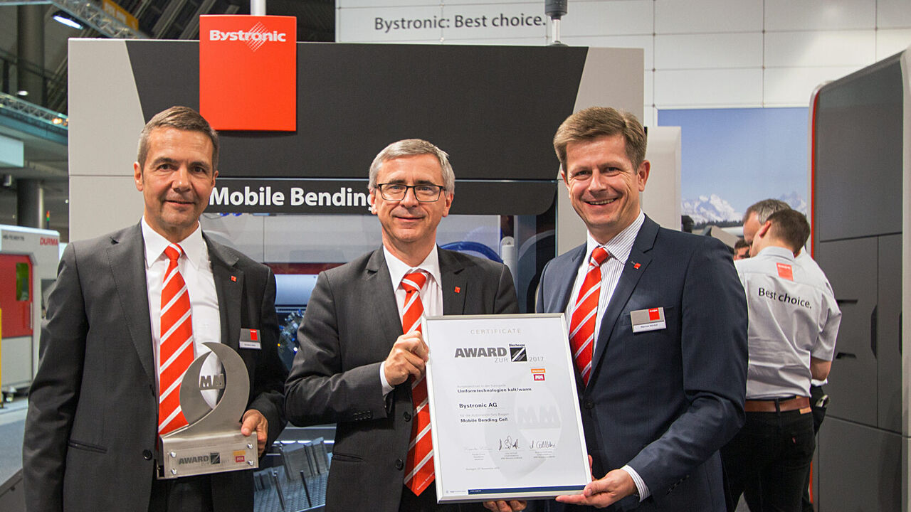 Blechexpo: Prix de l'innovation pour la Mobile Bending Cell